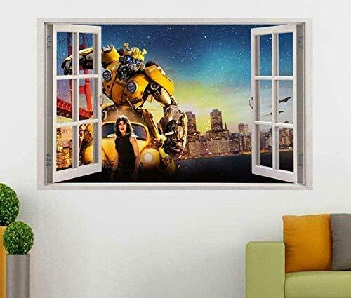 Wandaufkleber Wandaufkleber Bumblebee Film 3D-Fensteraufkleber Wandaufkleber Art Transformers Autobot fototapete 3D Effekt