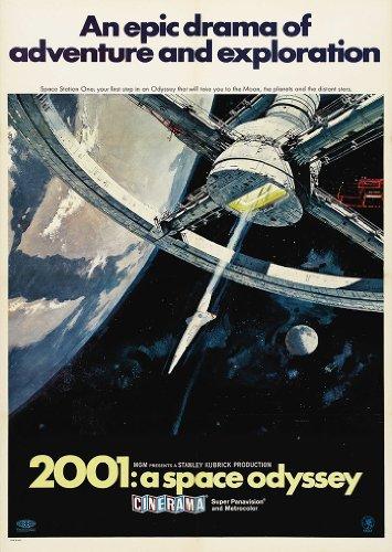 Stanley Kubricks 2001: una odisea del espacio de la película A3 Póster/diseño de/de fotos de madera de 280GSM de raso papel fotográfico