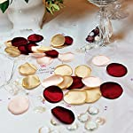 yuanxue satin rose petals, 200pcs flower petals artificial silk rose petals for wedding party flower girl basket, home decor, baby shower and valentine day (white)