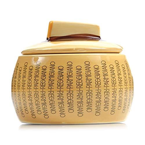 Boska Parmigiano Reggiano - Contenitore per formaggio, misura S, in gres porcellanato, 9,7 x 9,7 x 10 cm, colore: Beige