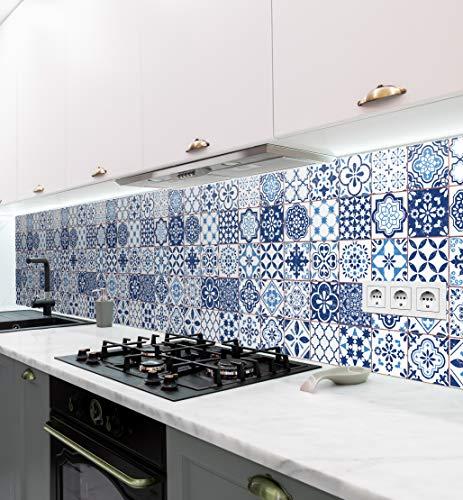 MyMaxxi   Salpicadero de cocina autoadhesivo sin taladrar   Motivo adhesivo Retro 02   60cm de altura   Tatuaje para la pared de la cocina   Decoración para la pared   Diseño de pared