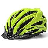 VICTGOAL Casco Bici Montagna Caschi Ciclismo per Mountain Bike Sicurezza Casco Regolabile Protezione Visiera a Scudo Casco Ideale per Unisex Adulti Caschi Taglia 57-61cm (Giallo)