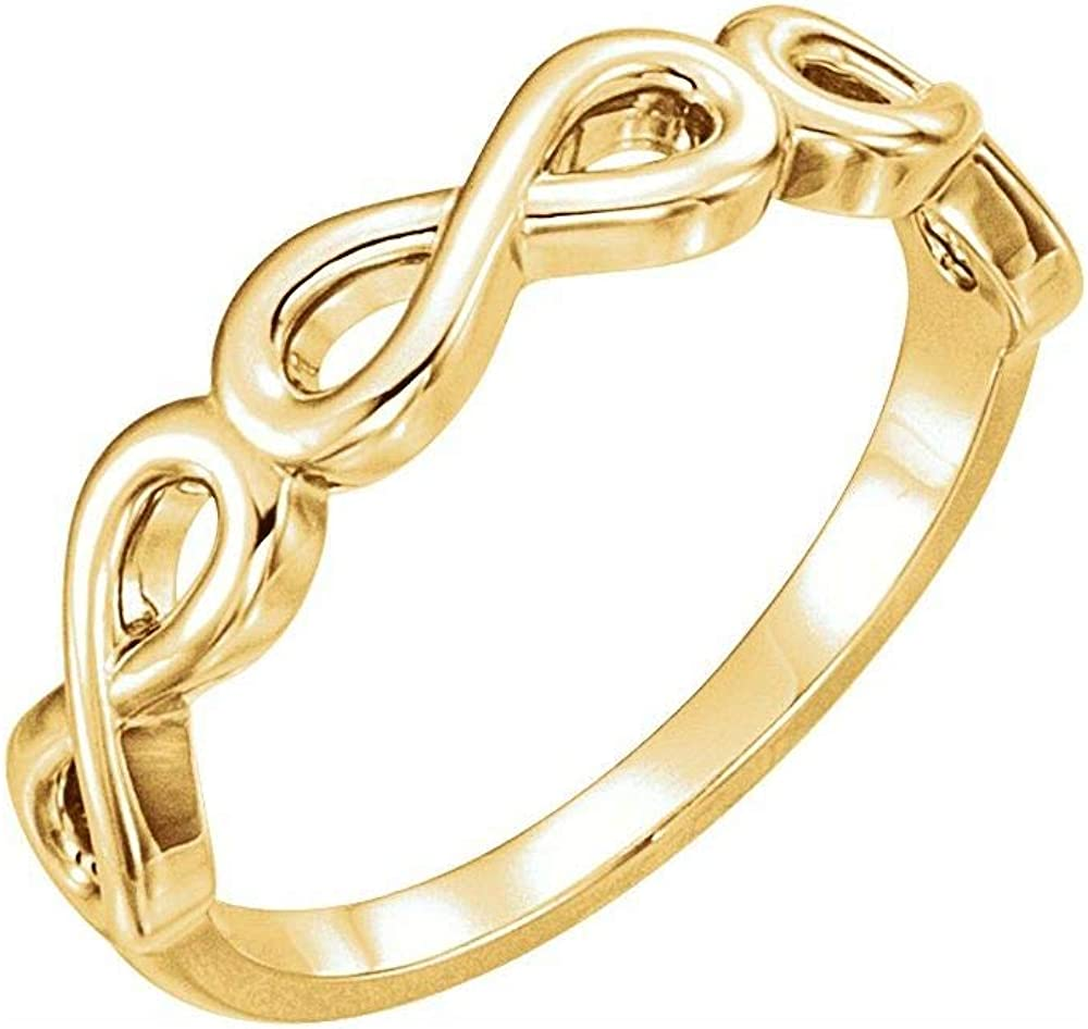 Stackable Wedding Anniversary Infinity-Inspired Ring Band (Width = 3mm)