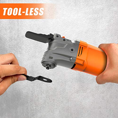 ENERTWIST Oscillating Tool, 4.2 Amp Oscillating Multitool Kit with 5° Oscillation Angle, 6 Variable Speed, 31pcs Saw Accessories, Auxiliary Handle and Carrying Bag, ET-OM-500