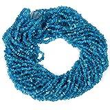 Natural 1 Strand 34? Neón azul perlas de apatita sin cortar patatas fritas / forma libre de piedras preciosas perlas   4-5 mm de fricción desiguales granos lisos para hacer la joyería  