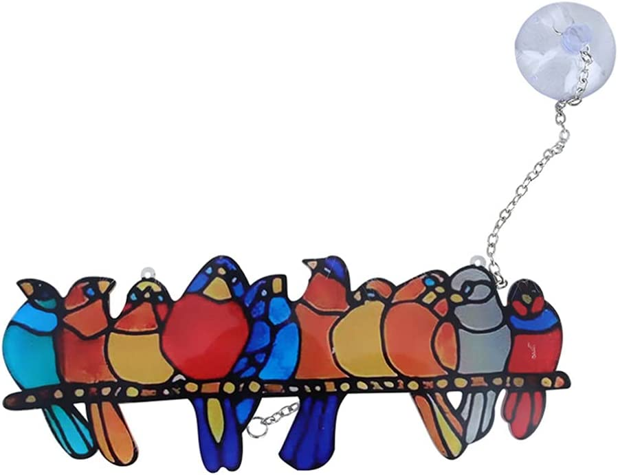VALICLUD Bird Stained Ornament Suncatcher At the price Hanging Window Challenge the lowest price of Japan Acrylic