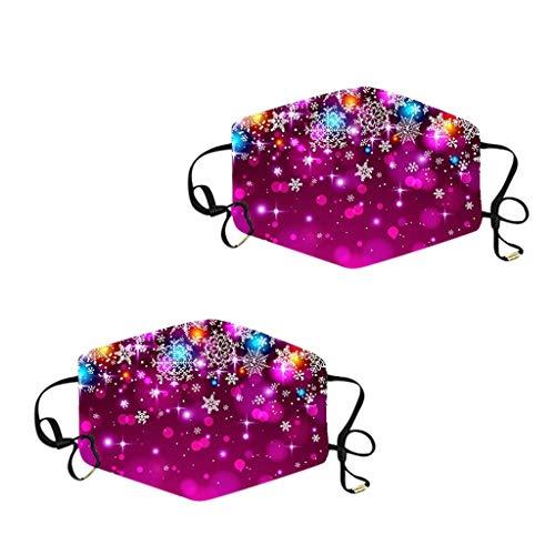 LootenKun Gesichtsbedeckung Lustig Mundschutz mit Motiv Christmas Atmungsaktiver Stoff Waschbar Wiederverwendbar Staubdicht Mund und Halstuch Kopftuch