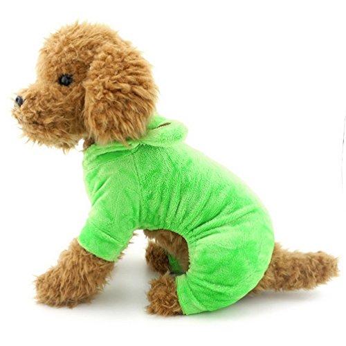 Pegasus pour petit chien Apparel pour filles garçons Costume Grenouille pour chien en velours doux pajams Halloween Apple Vert