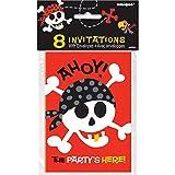 Unique Party- Invitaciones para Fiesta, 8 Unidades (40504)