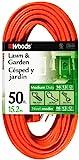 Woods 0268 16/3 SJTW General Purpose Extension Cord, Orange, 50-Foot