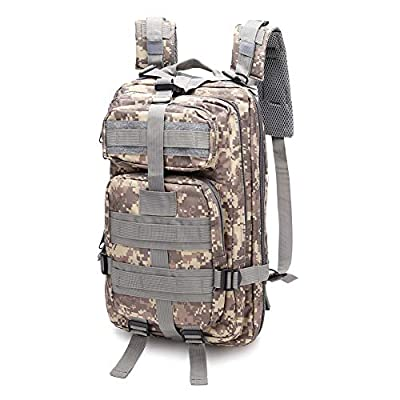 SZYT Military Tactical Backpack Daypack Bag for Hiking Camping Outdoor Sport ACU Camo