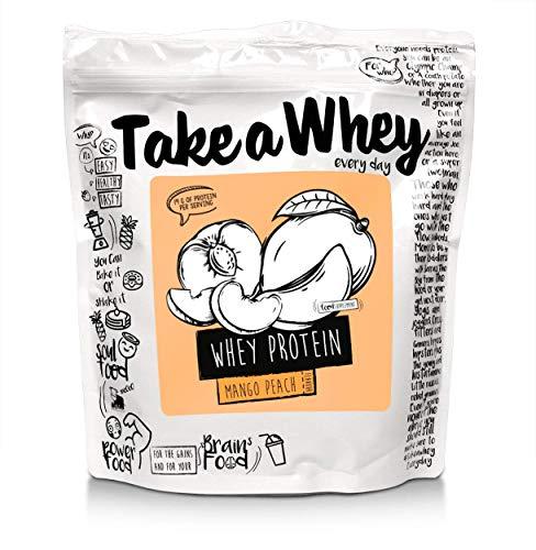 TAKE-A-WHEY Everyday Whey Protein Shake, Mango Peach