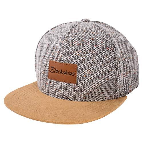 Blackskies Obsidian Snapback cap   Hat Berretto da Baseball Uomo Donna Cappello 5-Panel Lana Scamosciato Bianco-Marrone