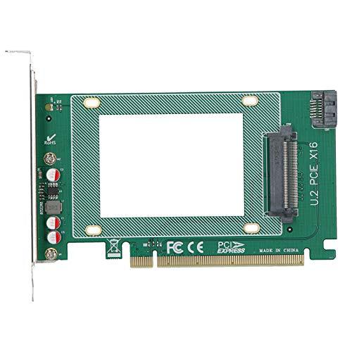 Cuifati Adaptador SSD NVMe de 2,5 Pulgadas, Tarjeta 32GT / S PCI-E X16 U.2, Adaptador de componentes electrónicos, para Windows 10/8 / Windows Server 2012 R2