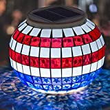 Pandawill Color Changing Solar Powered LED Garden Lights, Rechargeable Solar Powered Table Lights