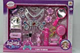 Brunte Doll House with Complete Vanity Makeup Set and Accessories Necklace, Mirror, Brush Set, Comb, Earrings and Many More Doll for Girls, Multicolor