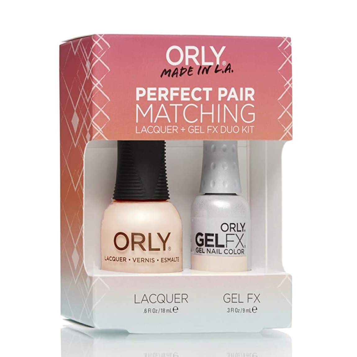 定期的に資産概要Orly Lacquer + Gel FX - Perfect Pair Matching DUO Kit - First Kiss