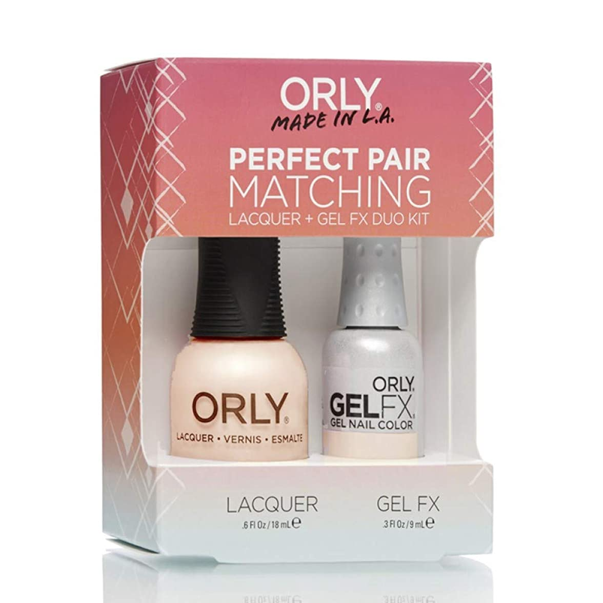 中世の大型トラック代数Orly Lacquer + Gel FX - Perfect Pair Matching DUO Kit - First Kiss