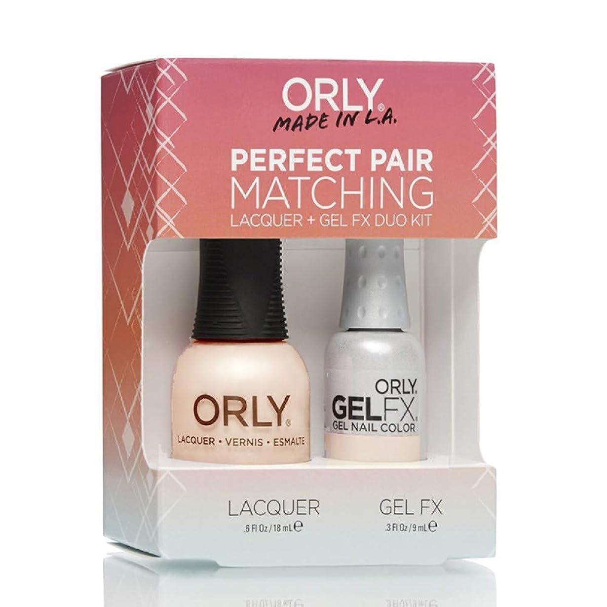 長々とスペードベギンOrly Lacquer + Gel FX - Perfect Pair Matching DUO Kit - First Kiss