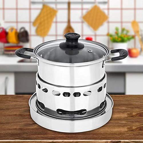 Perfect Home ? Cuisinière à gaz mèche INOX Portable extérieure pour l'extérieur, Petit Pot, Outils de Camping de Haute qualité, Taille: 14cm Durable