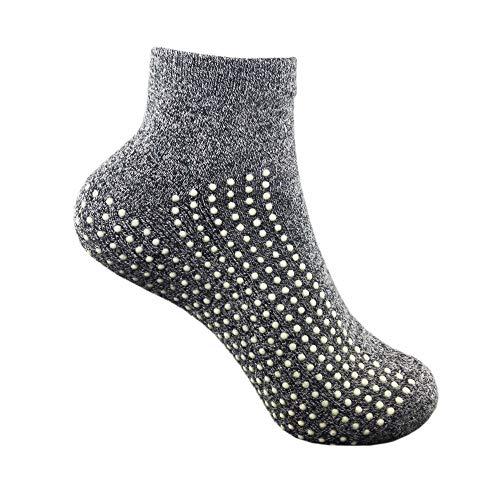Non-slip, Anti-Slip, Anti-skid Grip Socks for Hospital, Yoga, Barre, Pilates use Men and Women by GrippyPlus Regular from