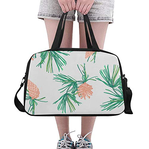 LMFshop Casual Handbag Evergreen Green Naturally Plant Yoga Gym Totes Fitness Handbags Duffel Bags Shoe Pouch For Sport Luggage Womens Outdoor Sports Bags