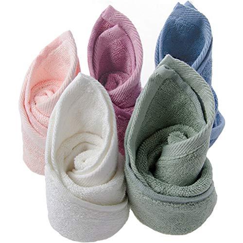 Bluestar bébé Serviettes en bambou naturel, doux et absorbant Serviettes pour Bébé pour peaux sensibles, bébé douche cadeaux, 34 cm x 34 cm (Pack de 5)