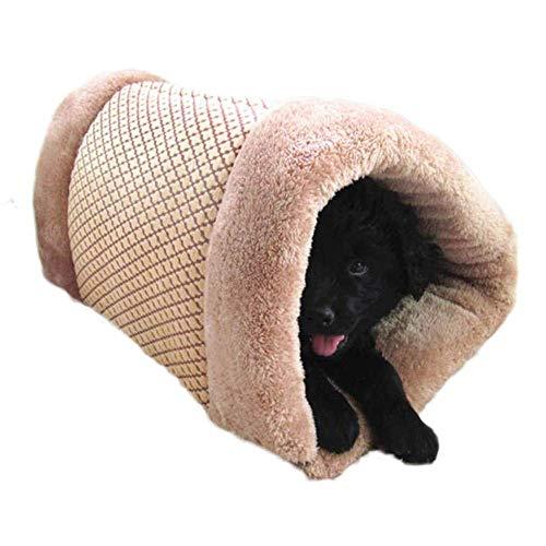 Dreieck Indoor Haustier Katze Welpen Bett Matte 2 in 1 Haustierhaus Bett Teppiche Weiche Plüsch Warme Kleine Hund Katze Haus Nest Caw Tragbare Faltbare Winter Gemütliche Bett Zimmerhütte Waschbare Sch