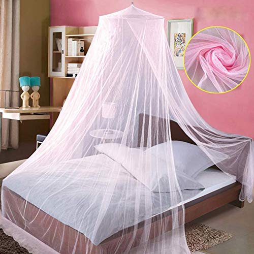 GUCL Moskitonetz für Bett, 3-Color Moskitonetz Doppelbett Moskito-Repellent Tent Insekten Müllhimmelbett Vorhang Bett-Zeltes,Rosa