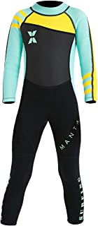 NATYFLY Kids Wetsuit,2mm Neoprene Thermal Swimsuit,Long Sleeve Kids Wet Suits for Swimming Scuba Diving,Full Wetsuit for Girls Boys and Toddler