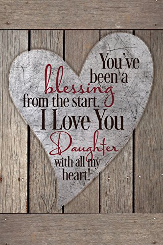 "Daughter Blessing Wood Plaque Inspiring Quotes 6""x9"" - Classy Vertical Frame Wall & Tabletop Decoration 