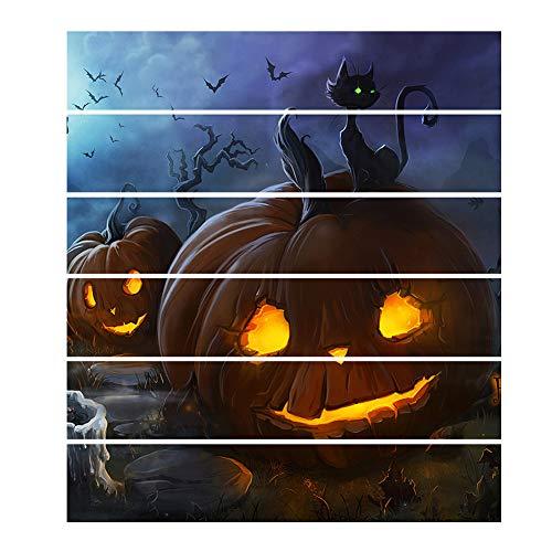 HAWPPWY Halloween 6 stücke Dekorationen DIY Nachahmung ölgemälde ungiftig Hause kürbis Muster 3D Effekt einfach Paste treppen Aufkleber Halloween Party
