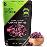 Sun Dried Whole Cranberries, Lightly Sweetened (16oz - 1 Pound) Packed Fresh in Resealable Bag -...