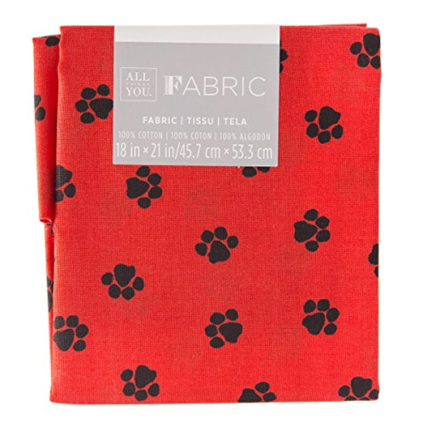 Darice 30029792 Patterned Quilting Fat Quarters: Paw Print