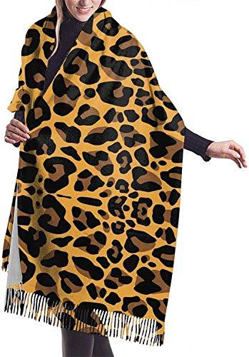 Bufanda de cachemira de leopardo a todo color para mujer,Bufanda de invierno clásica borla bufanda,Gran manta Wrap Chal XXX