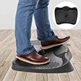 Anti Fatigue Comfort Standing Mat by DAILYLIFE, Soft, Durable & Comfortable Floor Mat for Office, Work, Kitchen, Home, Ergonomic Stand Up Mat with Acupressure Massage Dots & Arch Stretcher, Jet Black