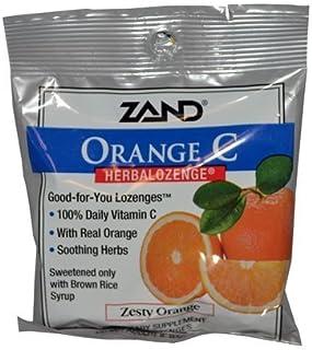 Zand HerbaLozenge Orange C Natural Orange - 15 Lozenges - Case of 12 by Zand
