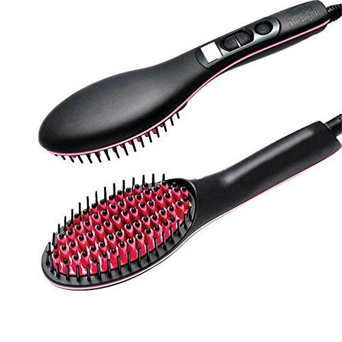 Shuangklei Draagbaar elektrisch haar, recht penseel, Pro LCD-display, snelle stijltang
