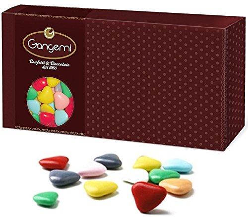 Gangemi Cuori- Confetti Couri al Cioccolato Colori Assortiti 1 kg