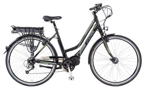 Prophete Damen E-bike Alu-Trekking 28 Zoll E-Novation Mittelmotor Licensed By JD, Glanzschwarz, Rahmenhöhe: 50.0 cm, Reifengröße: 28 Zoll (71 cm), 52054
