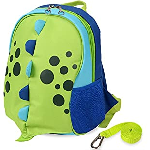 Yodo Upgraded Playful Kids Lunch Boxes Carry Bag Preschool Toddler Backpack Safety Harness Rein, Insulated Lining inside, Dinosaur