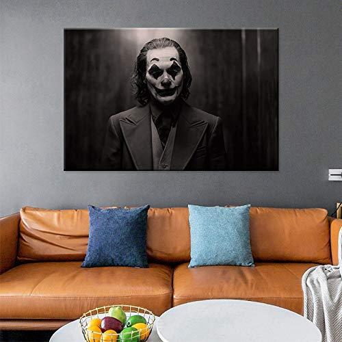 LPaWD Leinwand Ölgemälde Dekoration Wand Film Clown Poster Leinwanddruck Gemälde Wandbild Wohnzimmer Dekoration Gemälde A2 60x80cm