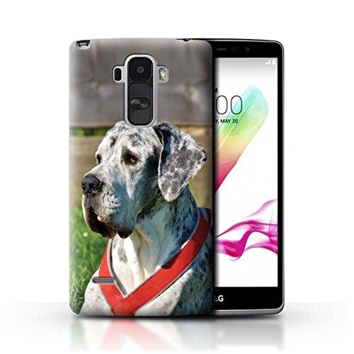 Hülle Für LG G4 Stylus Hund/Eckzahn Rassen Deutsche Dogge/Great Dane Design Transparent Ultra Dünn Klar Hart Schutz Handyhülle Case