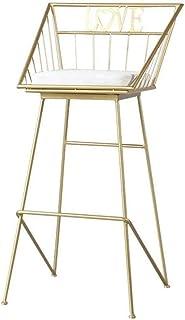 Taburete de bar Desayuno Contador de cocina Sillas Taburetes Reposapiés for silla de comedor cojín for el hogar silla de hierro forjado nórdica moderna minimalista de metal de oro informal bar taburet