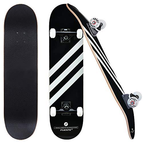 skateboard zaino Skateboard Completo Professionale a Doppio Calcio 80cm