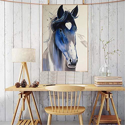 TBWPTS Canvas Schilderij Moderne dieren Posters Prints Muurschildering Canvas Verschillende soorten Paarden Foto's Woonkamer Wanddecoratie