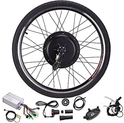 DREAMyun Kit de Conversión de Bicicleta Eléctrica 48V/1000W 20' 24' 26' 27.5' 28' 29' 700C Delantera/Rueda Trasera DIY Electric Bike Conversion Kit con Controlador de Modo Dual,Front Wheel,27.5'