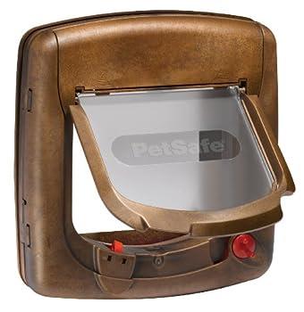 PetSafe - Chatière Magnétique De Luxe Staywell pour Chat avec Système de Verrouillage à 4 positions - Facile à installer - Finition Bois