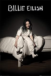 Billie Eilish - Music Poster (When We All Fall Asleep.) (Size: 24 inches x 36 inches)