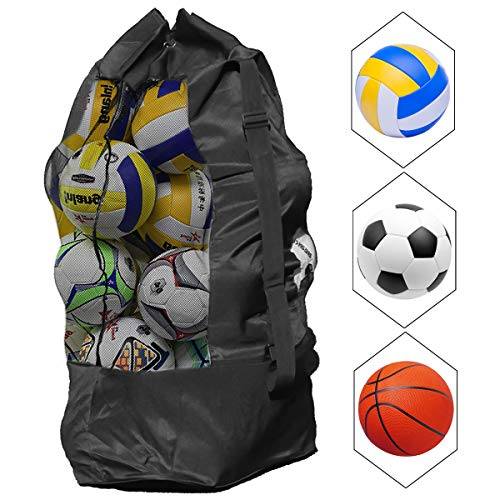 Natuce Extra Large Waterproof Mesh Ball Bag Heavy Duty Football Shoulder...